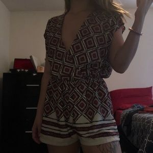 Better Be Clothing patterned romper